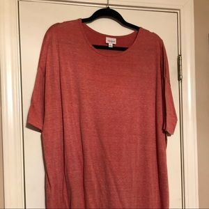 Lularoe heathered coral irma size large